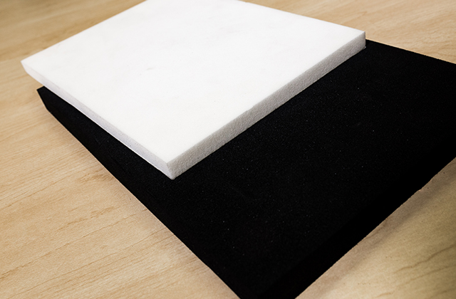 black and white sponge and foam