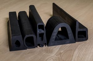 group of rubber extrusions