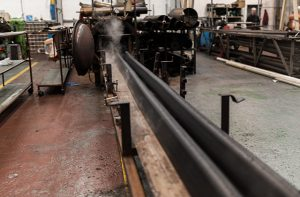 rubber extrusion in a factory
