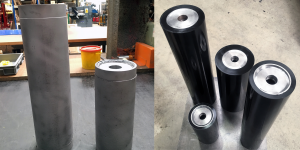 Polyurethane roller covering